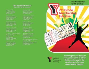 7th Grade Membership Initiative - YMCA of Philadelphia and
