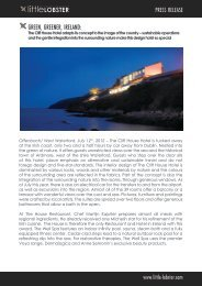 Press Release Little Lobster: The Cliff House Hotel