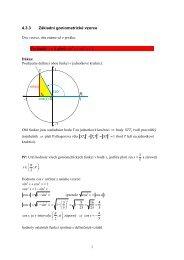 4.3.3 Základní goniometrické vzorce