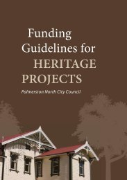 Funding Guidelines for HERITAGE PROJECTS - Palmerston North ...