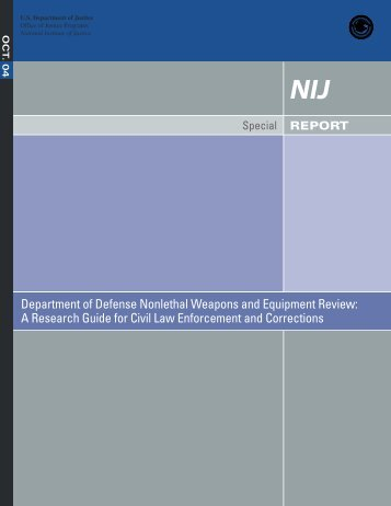 Department of Defense Nonlethal Weapons and Equipment Review