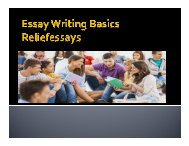 Essay writing basics reliefessays