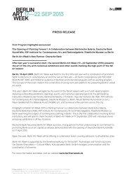 Press release - Berlin Art Week
