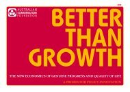 Better than growth - Australian Conservation Foundation