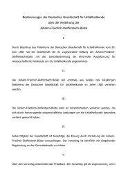 Bestimmungen der Deutschen Gesellschaft fÄr Unfallheilkunde Äber ...