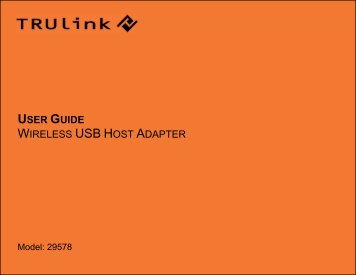 USER GUIDE WIRELESS USB HOST ADAPTER - Cables To Go