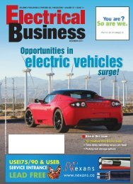 DECEMBER 2011 - Electrical Business Magazine