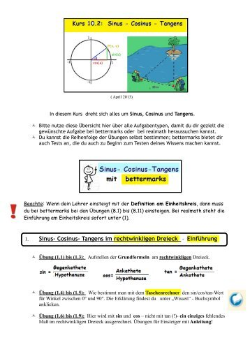 Großartig Sinus Regel Und Kosinussatz Arbeitsblatt Fotos - Mathe ...