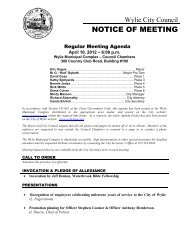 NOTICE OF MEETING - City of Wylie