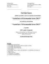6h Latvijas kausa 3. posma nolikums - Latvijas Automobiļu Federācija