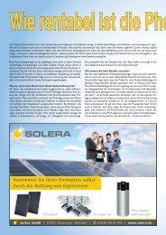 Eine Photovoltaikanlage ist ein langlebiges und damit in jeder ...