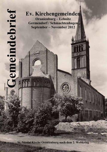 Gemeindebrief 09.2012 - Neues - Evangelische Kirchengemeinde ...