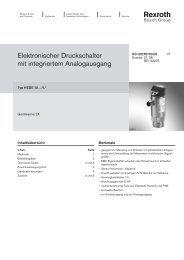 Elektronischer Druckschalter mit integriertem ... - Bosch Rexroth