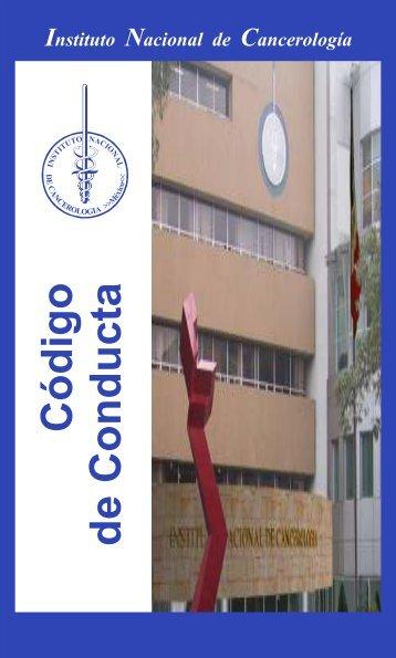 codigo conducta web - Instituto Nacional de Cancerología