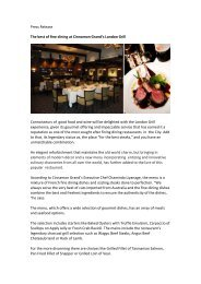 The best of fine dining at Cinnamon Grand's London Grill