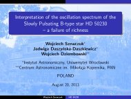 Interpretation of the oscillation spectrum of the Slowly Pulsating B ...