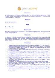 Regolamento L' Associazione Diversamente Onlus, con sede legale ...