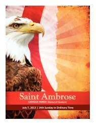 July 7, 2013 – 14th Sunday of Ordinary Time - Saint Ambrose Parish