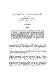 Evolving Software with Extensible Modules - LAMP - EPFL