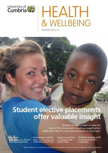 Health and Wellbeing Newsletter 2012-13 - University of Cumbria