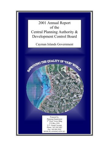 2001 Planning Department Annual Report - Cayman Islands ...