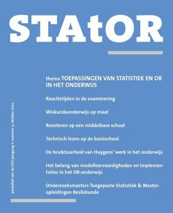 thema TOEPASSINGEN VAN STATISTIEK EN OR IN HET ...