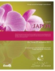 Du 14 au 29 octobre 2011 - Agence voyage Louise Drouin