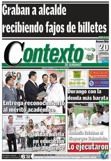 20/06/2013 - Contexto de Durango