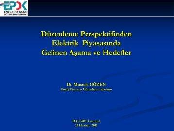 Dr. Mustafa GÖZEN, EPDK Elektrik Piyasası Dairesi Bşk.lığı - ICCI