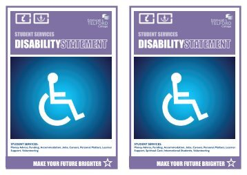 DISABILITY DISABILITY - Edinburgh's Telford College