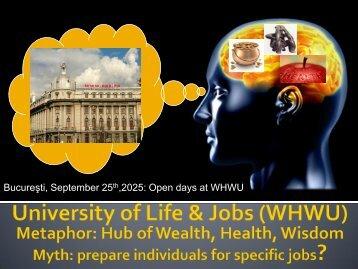 Bucureşti, September 25th,2025: Open days at WHWU