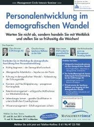 Seminar: Personalentwicklung im demografischen Wandel ...