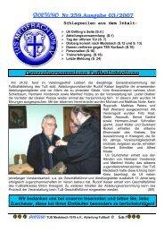 SPORTECHO Nr.259,Ausgabe 03/2007 Generalversammlung ...
