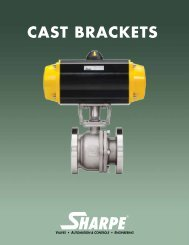 CAST BRACKETS - Sharpe® Valves