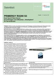 PRIMERGY RX200 S3 - INOCOM Business Computing e. K.