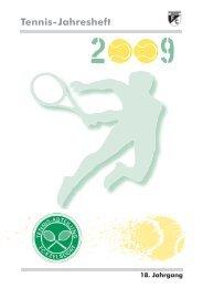 Tennis-Jahresheft 2009 - FC Ezelsdorf