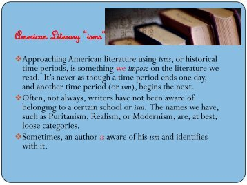 "American Literary ""isms"" - CHS Development Site"
