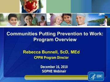 Communities Putting Prevention to Work - Society for Public Health ...