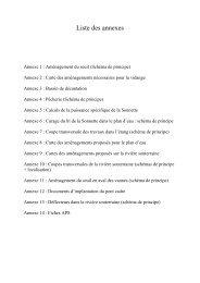 Liste des annexes - Agence de l'eau Adour-Garonne