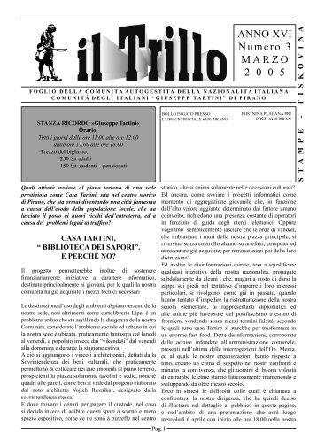 ANNO XVI Numero 3 MARZO 2 0 0 5