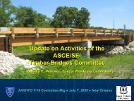 An Overview of Timber Bridge Activities at ASCE/SEI - AASHTO ...