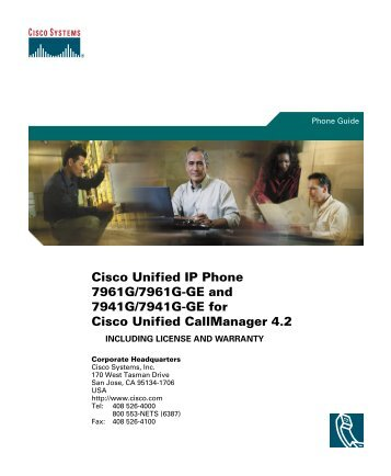 Cisco Unified IP Phone 7961G/7961G-GE and 7941G/7941G-GE