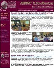 EMC Update - pavliks.wcm - Web Content Management System