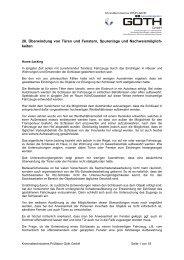 28. Überwindung von Türen und Fenstern ... - GOETH GmbH