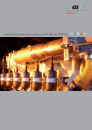 Combined heat and power units up to 401 kW and 549 kW