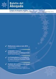 boletin del abogado 3º edicion - mayo 2010 - Colegio de Abogados ...