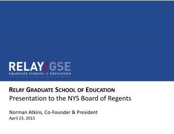 Relay Graduate School of Education - Board of Regents