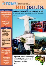 Prefeitura investe no cartão-postal do Rio - Tribunal de Contas do ...