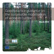 Wood Mobilisation Guidance Report - Forest Europe