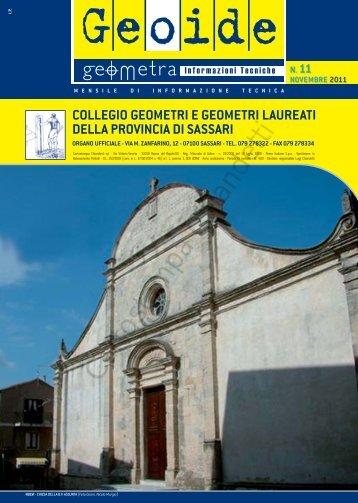 novembre 2011 - Collegio dei Geometri della provincia di Sassari